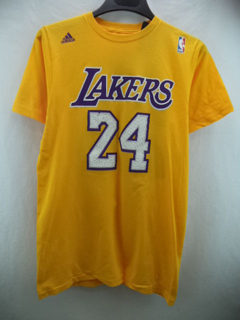 Los angeles lakers adidas nba #24 bryant yellow jersey t