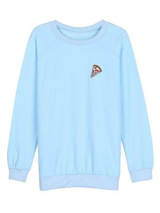 sweater crewneck blue pizza