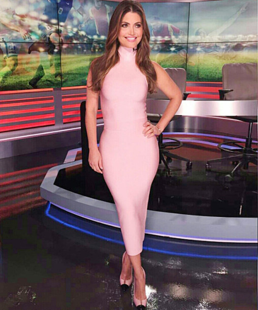 ba829172d5af dress dream it wear it dress pink pink dress midi midi dress high neck high  neck