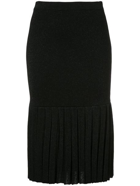 skirt knitted skirt pleated women black