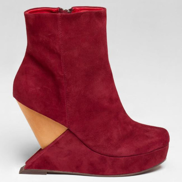 shoes red suede shoes red shoes jeffrey campbell wedges suede shoes