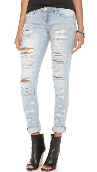 Blank Denim Distressed Straight Leg Jeans   SHOPBOP