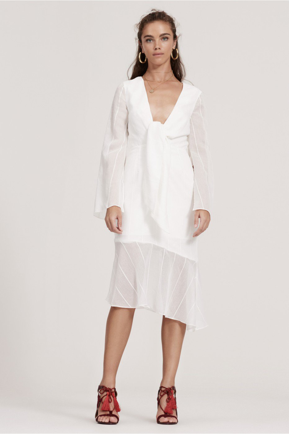 FINDERS KEEPERS SANCTUARY DRESS ivory