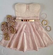 shoes,glitter,sandals,glamour,classy,girly,pink,belt,jewels,shirt,dress