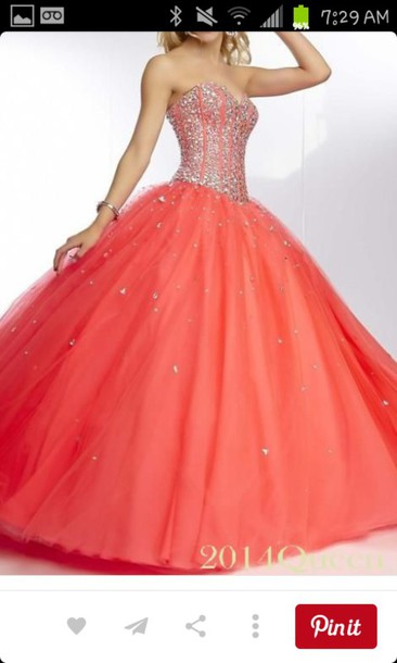 dress orange prom dress