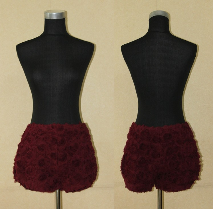 Aliexpress.com : Buy Free Shipping sweet 3D stereo disk flowers roses shorts NOT U3623 from Reliable rose flower suppliers on ED FASHION