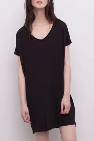 dress black dress v neck