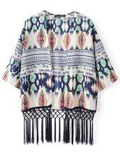cardigan,kimono,blur,abstract,brenda-shop,vintage,fringes,boho