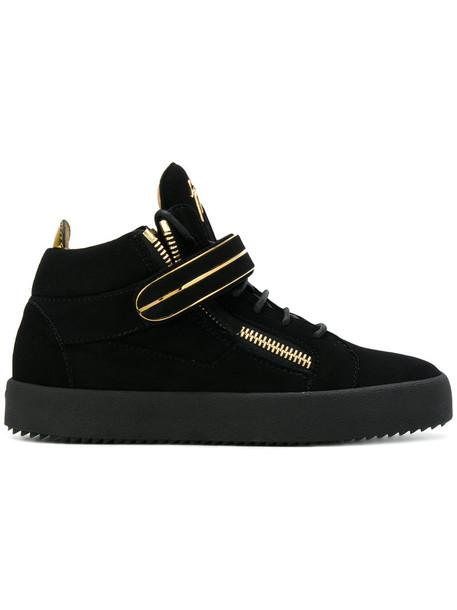 Giuseppe Zanotti Design - Mike hi-top sneakers - women - Leather/Suede/rubber - 38, Black, Leather/Suede/rubber