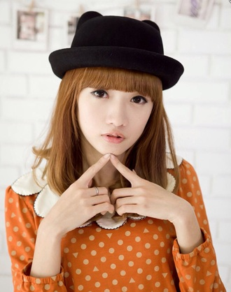 hat black hat cat ears cute cat hat kawaii fedora black fedora