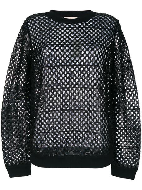 Tory Burch top loose women black knit