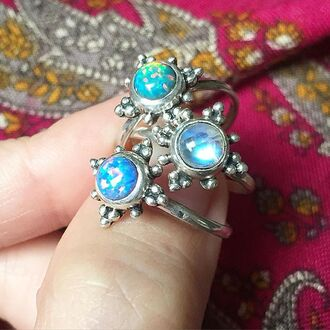 jewels shop dixi sterling silver rings opal