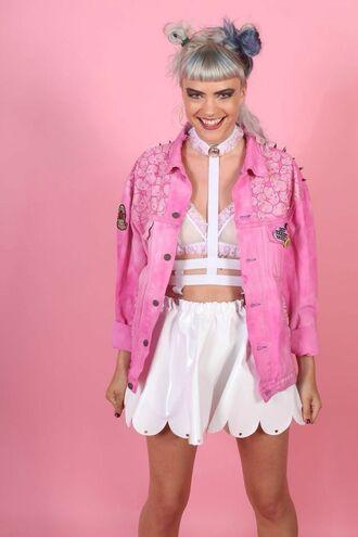 jacket denim denim jacket pink pink jacket