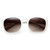 Womens Retro Colorful Pastel P3 Horned Rim Keyhole Wayfarer Sunglasses                           | zeroUV