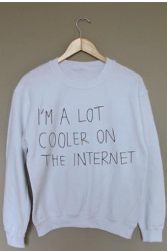 white jumper graphic sweater