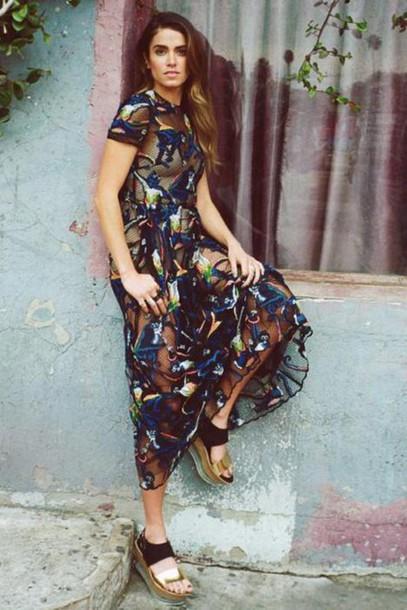 nikki reed Valentino patterned dress dress