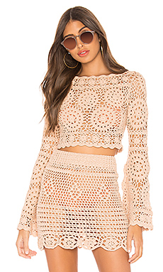 MAJORELLE Harvest Crop Top in Sand from Revolve.com