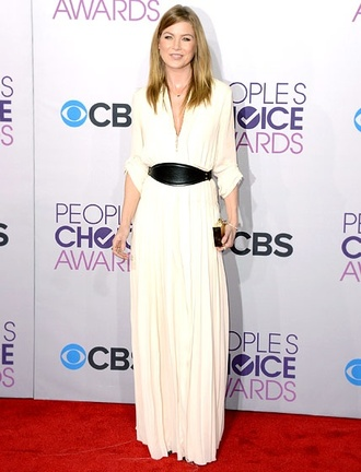 dress clothes maxi dress long sleeve dress white dress ellen pompeo