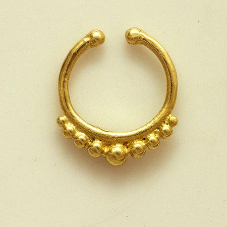 Brass septum for non pierced nose
