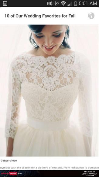 lace dress wedding dress long sleeve dress