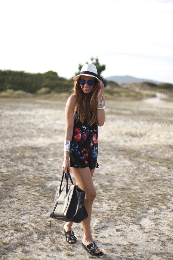 b a r t a b a c blogger romper shoes bag sunglasses jewels