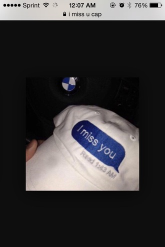 hat white no reply back cute