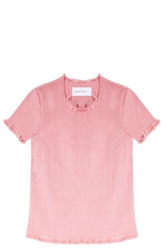 top denim pink