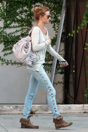 bag,jeans,blue jeans,shoes,cute,triangle