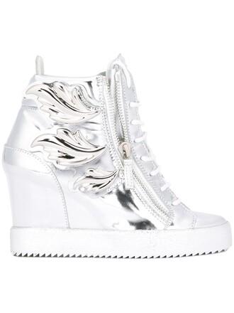 sneakers wedge sneakers metallic shoes