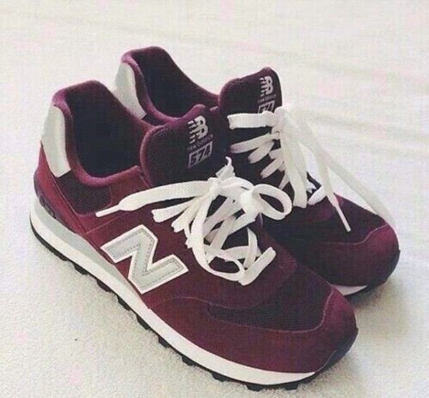 new balance 574 burgundy grey