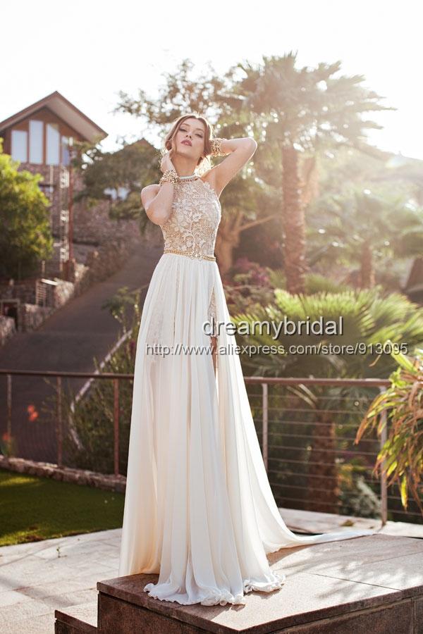 Julie 2014 Spring Collection Sexy Vestidos De Noiva Lace Chiffon Wedding Dresses Open Back Vestido Casamento