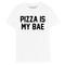 Pizza is my bae tee - white - batoko