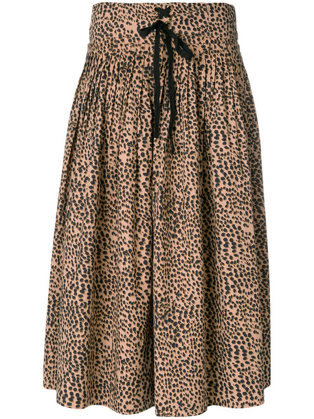 Ulla Johnson skirt women cotton print brown