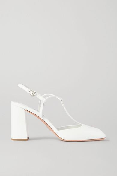 Prada - 85 Patent-leather Pumps - White - 85 Patent-leather Pumps
