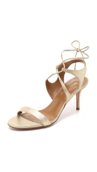light sandals gold shoes