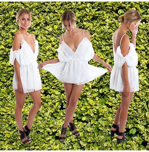 jumpsuit white white jumpsuit jumpsuite white dress white sweater white crop tops white t-shirt white jumpsuit/romper romper jumpsiut white sexy style fashion