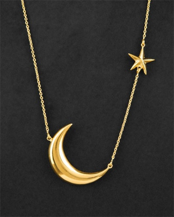 Moon Amp Star Necklace Large Gold Melinda Maria Jewelry