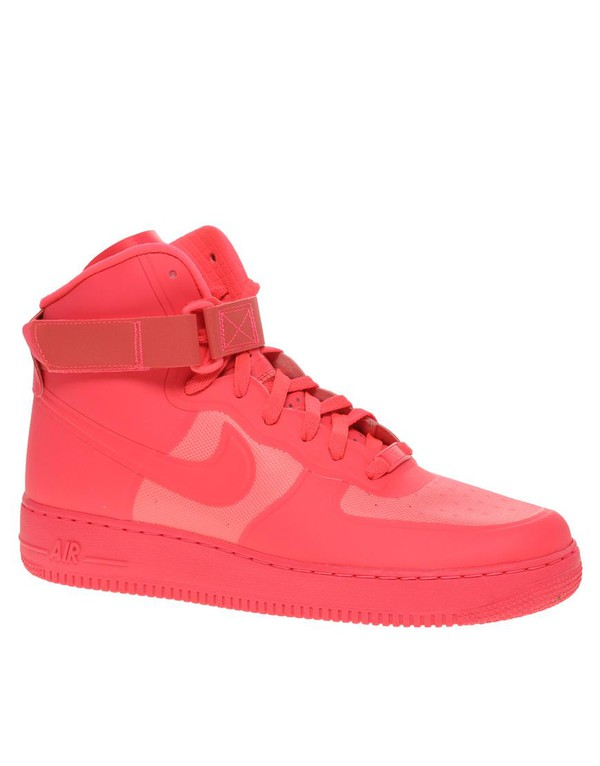 shoes hot pink nike air force 1 high top sneakers nike sneakers