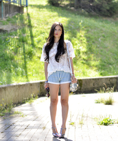 petit and sweet couture,t-shirt,shorts,shoes,bag,sunglasses,jewels