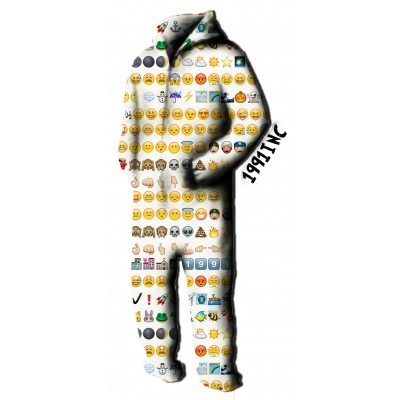 Emoji onesie jumpsuit