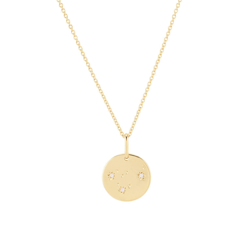 Zodiac Necklace Capricorn Vermeil