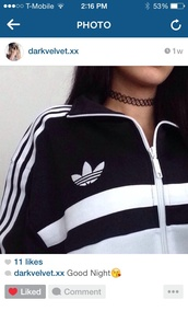 jacket,adidas,adidas jacket,pretty,beautiful,sweater,black and white