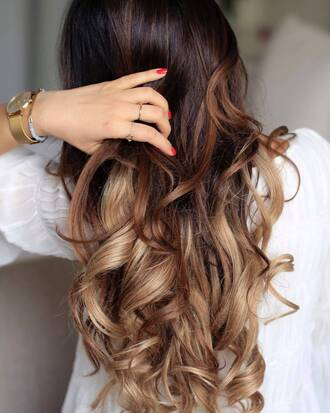 hair accessory tumblr gold watch ombre ombre hair long hair hair hairstyles watch ring gold ring jewels jewelry gold jewelry