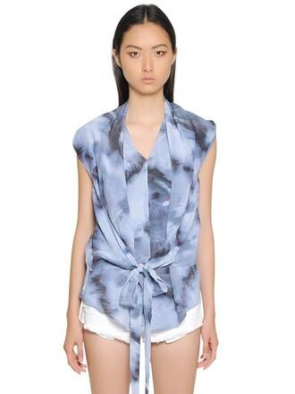 top silk blue grey