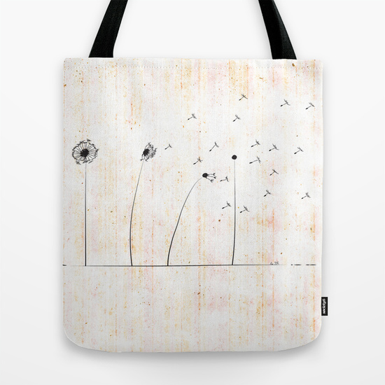 Dandelion Tote Bag by AhaC