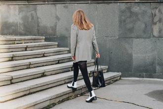 kristina magdalina blogger sunglasses jacket bag sweater skirt shoes