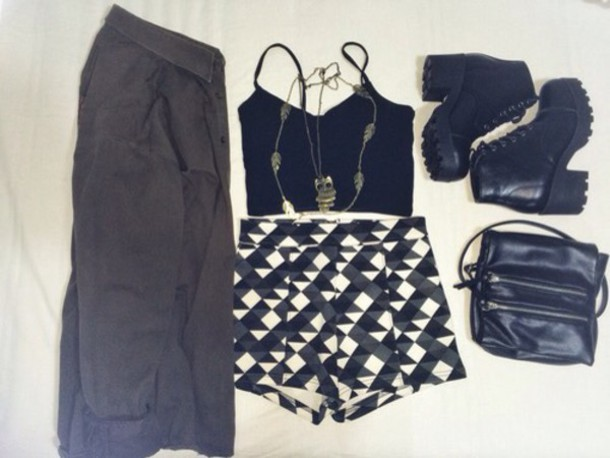 jacket top shorts shoes