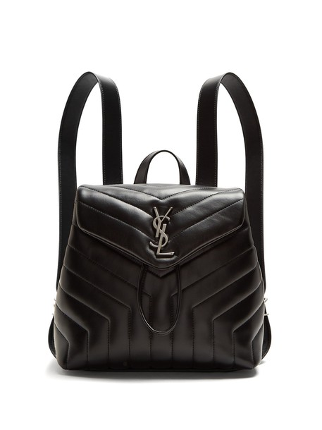 Saint Laurent backpack leather backpack leather black bag