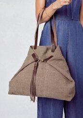 bag,brown bag,boho,tassel,big purse,brown,beach,leather,hobo bag,beach bag