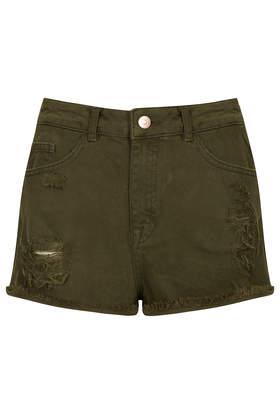 MOTO Khaki Hallie Hotpants - Shorts - Clothing - Topshop